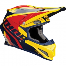 Kask Thor SECTOR RICOCHET NAVY/YELLOW/RED